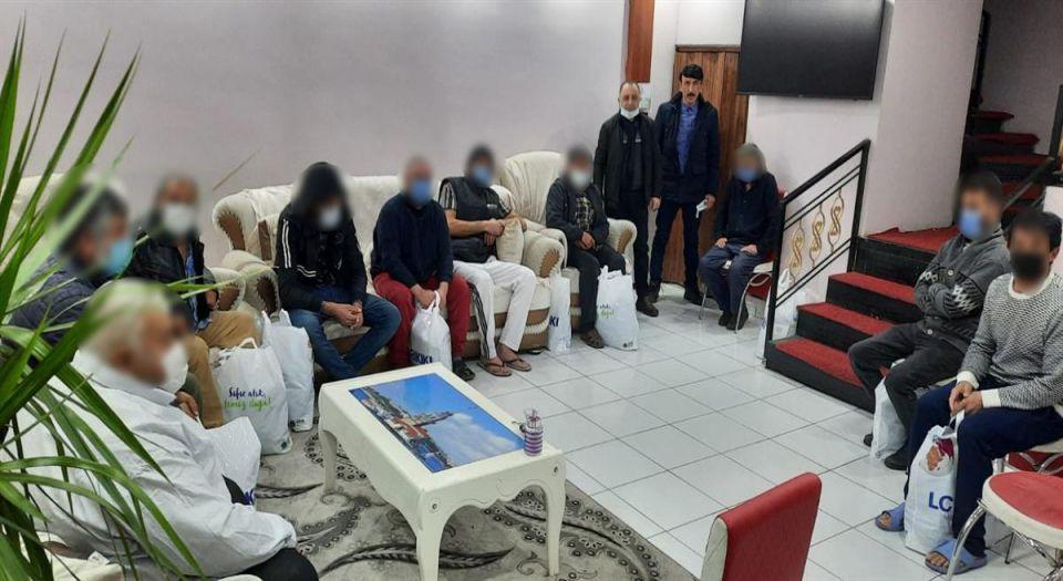 Erzincan'da sokakta yaşayan evsizler otellere yerleştirildi