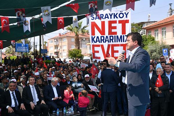 1 1320 - Zeybekci, Kale, Sarayköy ve Babadağ'da vatandaşlarla buluştu