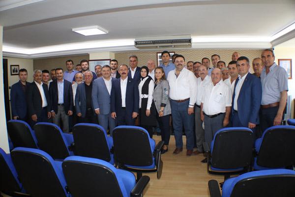 1 3475 - Milletvekili Şahin Tin, DESOB Başkanı Devecioğlu'nu ziyaretinde konuştu