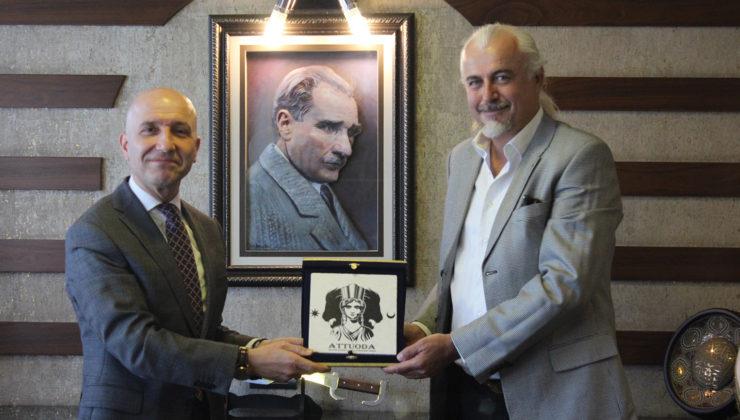 Attouda Antik Kenti'nin destekçisi Başkan Özbaş'a teşekkür ziyareti