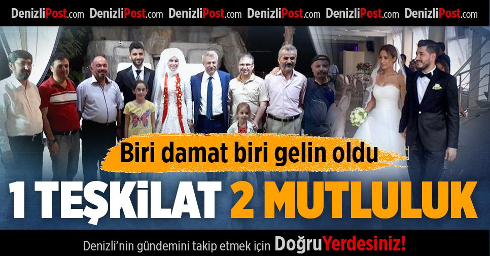 AK Parti'de çifte mutluluk