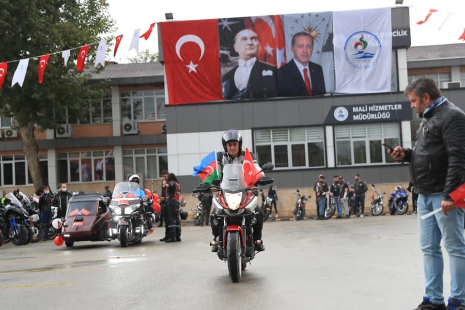 10 51 - PAMUKKALE'DE 29 EKİM COŞKUSU MOTOSİKLET KORTEJİYLE YAŞANDI