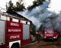 Boğazdere'de samanlık yangını