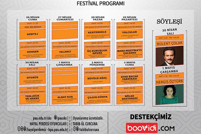 11.Tiyatro Festivali - PAÜ'de 11. Üniversitelerarası Tiyatro Festivali Başlıyor