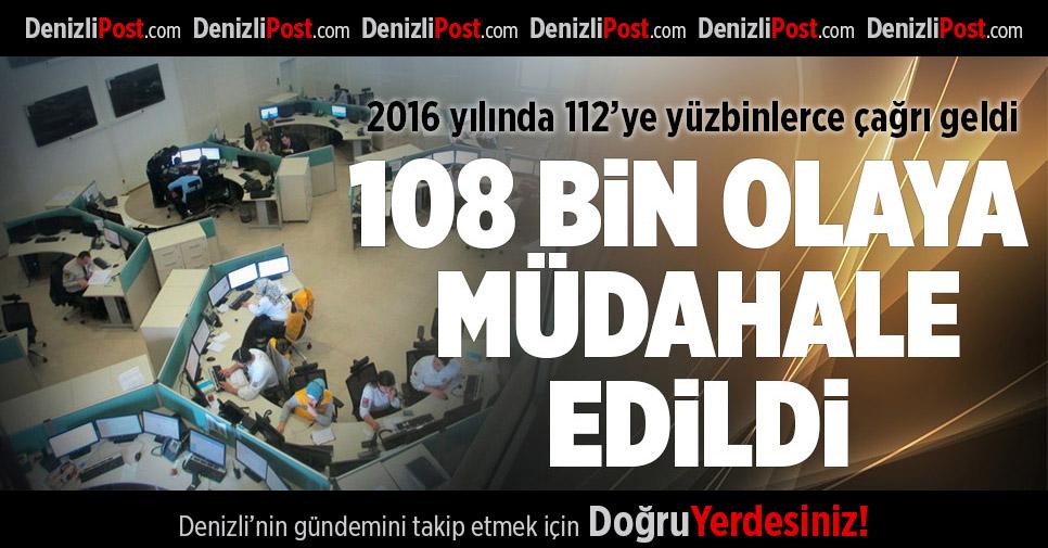 2016 yılında 112'ye yüzbinlerce çağrı geldi