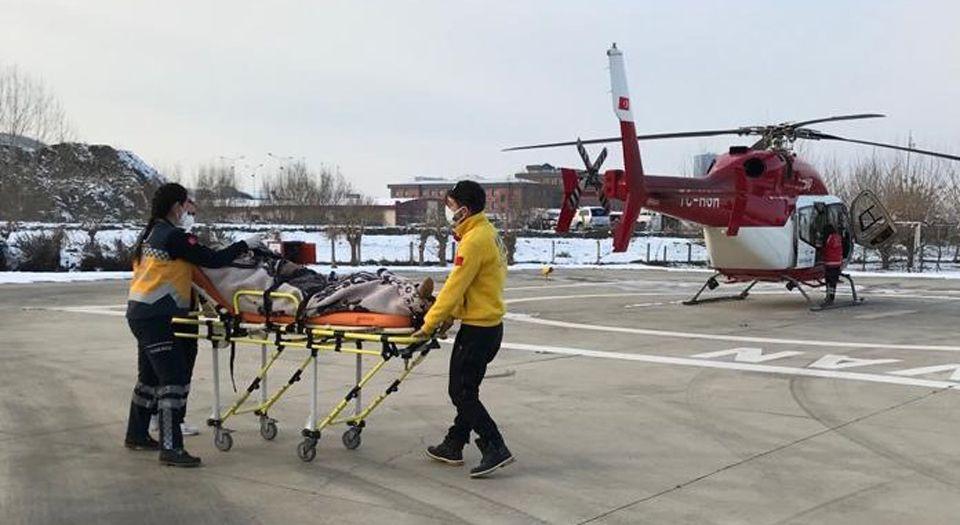 Bursa'da helikopter ambulans 78 yaşındaki hasta için havalandı