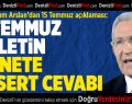 CHP Denizli Milletvekili Kazım Arslan'dan 15 Temmuz Mesajı