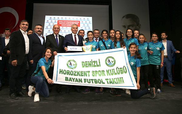 2 2065 - Büyükşehir'den 107 Spor Kulübüne 1 Milyon 100 Bin TL'lik Destek