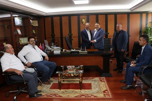 2 2256 - Milletvekili Şahin Tin, DESOB Başkanı Devecioğlu'nu ziyaretinde konuştu