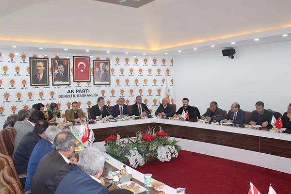 2 310 - AK Partili Tin Partisinin İlçe Başkanlarıyla Bir Araya Geldi