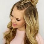 2016 trendy braided hairstyles mohawk braid top knot4 144x144 - Hiç Geçmeyen Moda: Saç Örgüsü