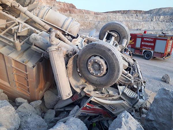 20257939 1508340255890448 7789059716283593218 n - Beton Şantiyesinde Kamyon Kazası: 1 Ölü