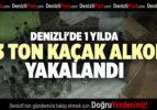 DENİZLİ'DE 1 YILDA 23 TON KAÇAK ALKOL YAKALANDI