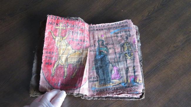 3 1432 - Denizli'de 500-1000 Yıllık Papirüse Yazılı Tarihi 4 Adet Kitap Ele Geçirildi