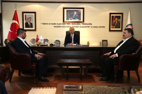 3 992 - AK Parti Honaz İlçe Teşkilatı'ndan Başkan Zolan'a Ziyaret