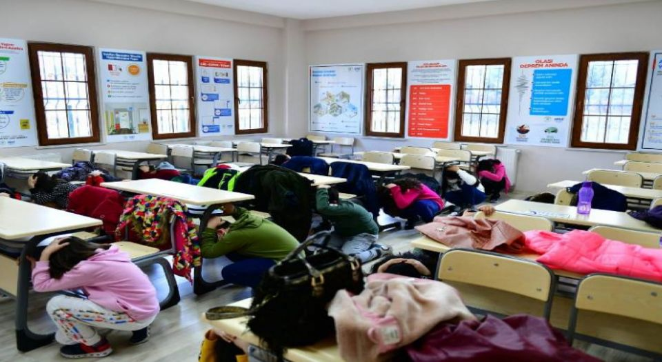 Malatya Yeşilyurt'ta deprem tatbikatı