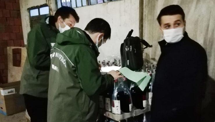 Bursa Nilüfer'de 10 bine yakın sahte içkiye el konuldu!
