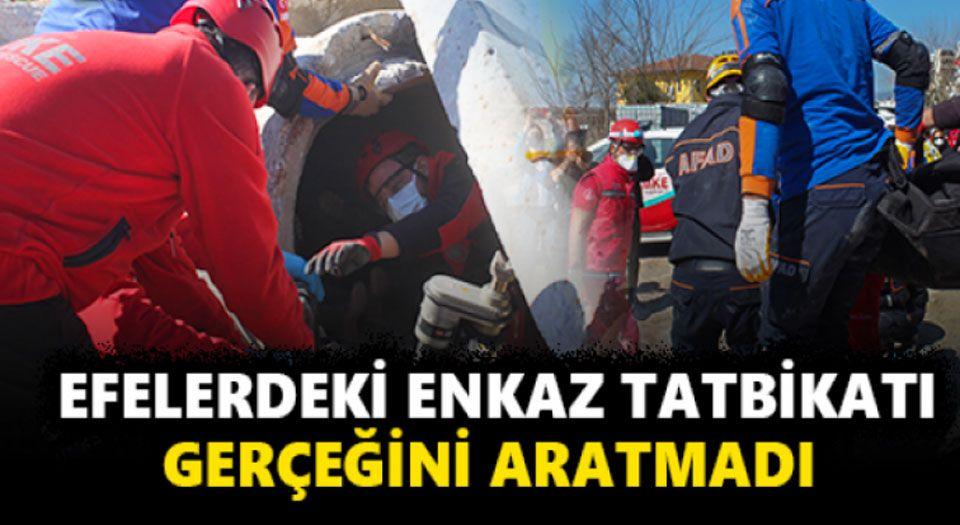 Aydın Efeler'deki deprem tatbikatı gerçeği aratmadı