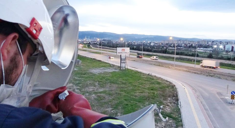 UEDAŞ, Bursa'da 4 kilometrelik yolu aydınlattı