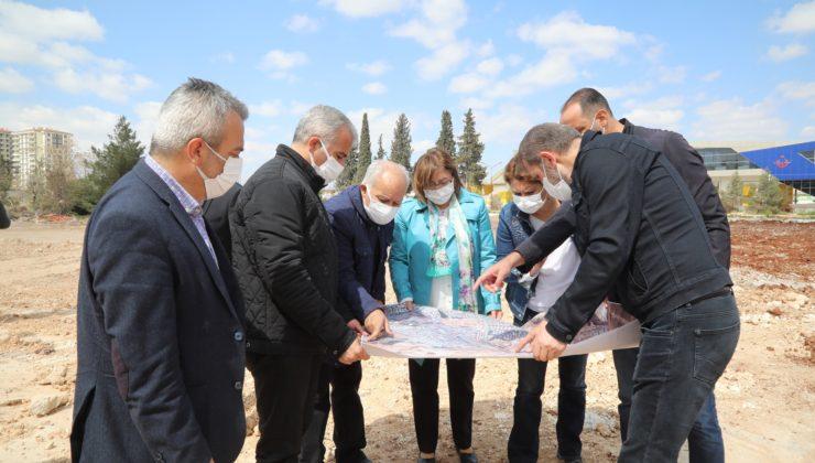 Gaziantep'te sanayiye bağlantı yolunda yerinde inceleme