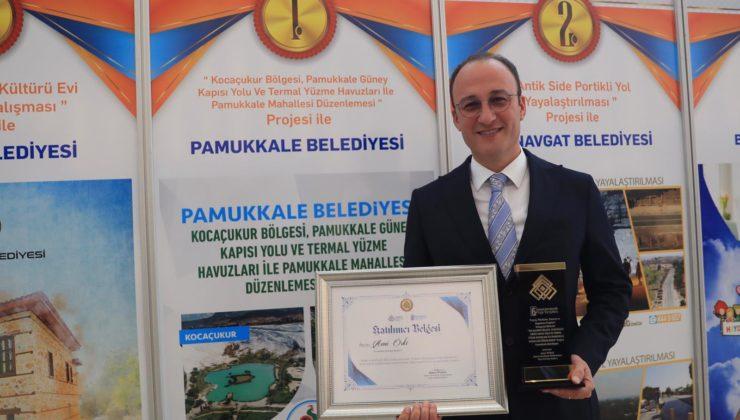 Akdeniz Belediyeler Birliği'nden Pamukkale'ye büyük ödül