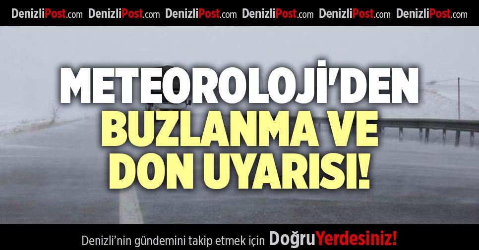 METEOROLOJİ'DEN BUZLANMA VE DON UYARISI!
