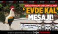 DENİZLİ HOROZUNU SANALDAN KALDIRIP, 'EVDE KAL' MESAJI VERDİLER