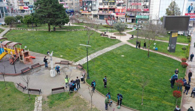 Kocaeli Tekel Duvarı alanı yeşillendi
