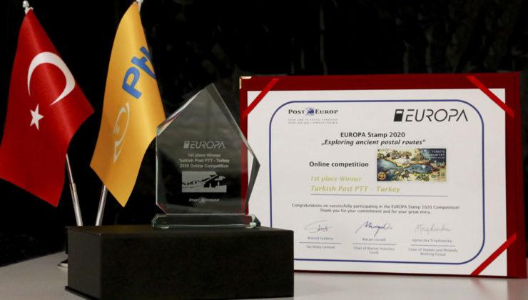 Avrupa'dan PTT'ye 'altın pul' ödülü