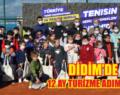 Genç tenisçiler Didim'de raket sallıyor