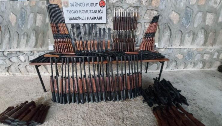 Hudut Kartalları sınırda 2 bin 249 tabanca gövdesi ele geçirdi