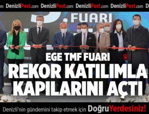 EGE TMF FUARI REKOR KATILIMLA KAPILARINI AÇTI.