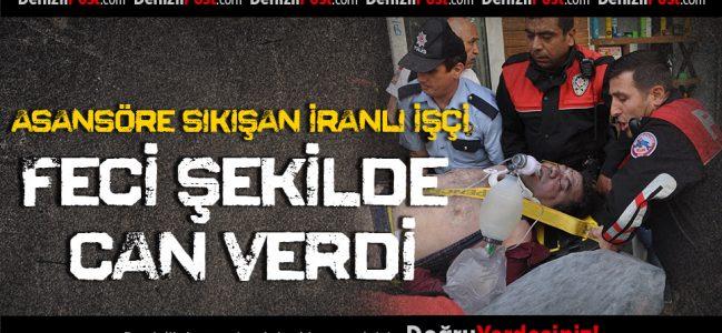 Asansörde Sıkışan İranlı İnşaat İşçisi Öldü
