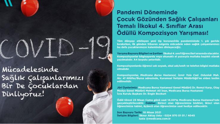 Bursa'da çocuklardan 'sağlık çalışanları'nı dinleyecekler