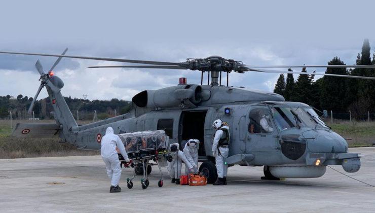 Çanakkale'de COVID hastası askeri helikopterle sevk edildi