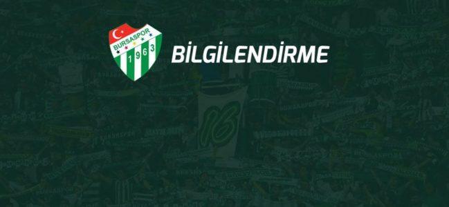 Bursaspor'da COVID-19 şoku!