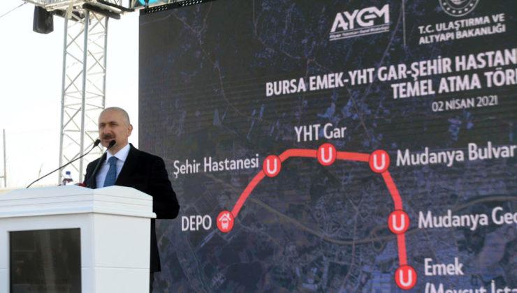 Ulaştırma Bakanı Bursa'da… Bursa Şehir Hastanesi metro hattının temeli atıldı