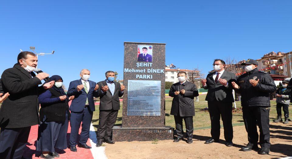 Afrin şehidi Mehmet Dinek'in adı Denizli Tavas'ta yaşayacak
