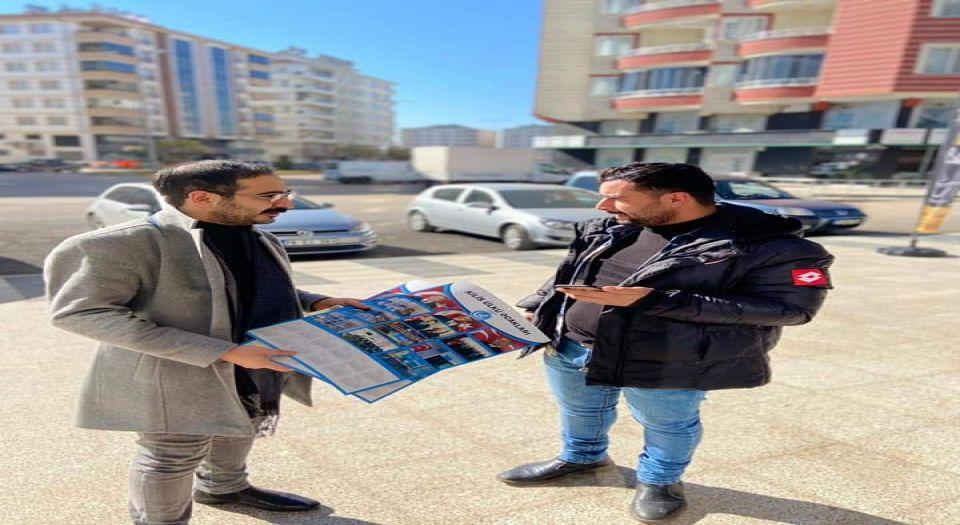 Kilis Ülkü Ocakları esnafa takvim dağıttı