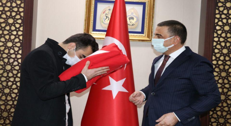 Şanlı bayrağımız Siirt'ten yola çıktı