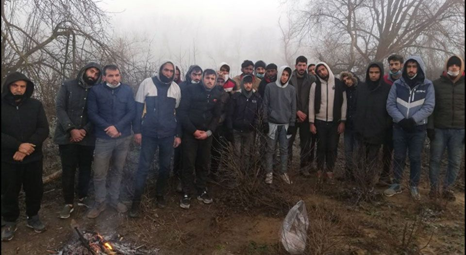 Edirne Meriç hududunda 26 düzensiz göçmen yakalandı
