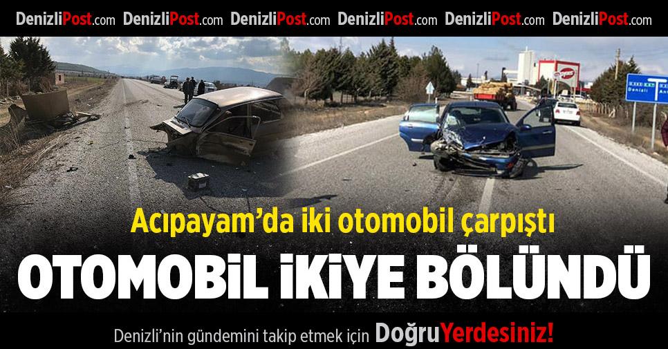 Acıpayam'da Meydana Gelen Kazada Bir Otomobil İkiye Bölündü