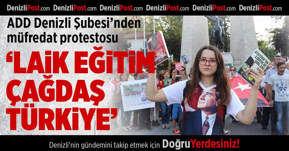 ADD Denizli Şubesi'nden müfredat protestosu