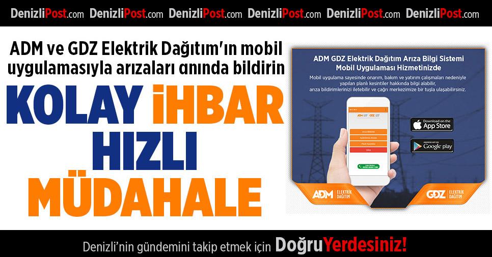 ADM'nin Mobil Uygulamasıyla Kolay İhbar Hızlı Müdahale