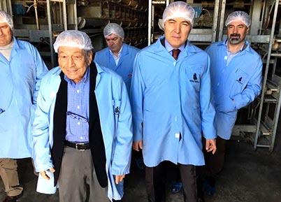 Vali Altıparmak, Hayırsever Orhan Abalıoğlu'nu Ziyaret Etti