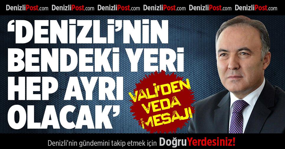 Vali Dr. Ahmet Altıparmak'ın Veda Mesajı