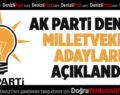AK Parti Denizli Milletvekili Adayları Açıklandı