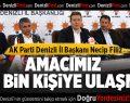 AK Parti Denizli'de 450 bin kişiye ulaşacak