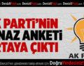 AK Parti'nin Honaz Anketi Ortaya Çıktı