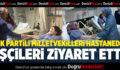 AK Partili Milletvekilleri Gazdan Etkilenen İşçileri Hastanede Ziyaret Etti